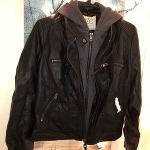 Cielo Basic Black leather jacket